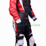 classical motorcycle 2pcs black/red bikers racing leather suit