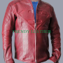 superman man of steel smallville red sheep skin real leather jacket