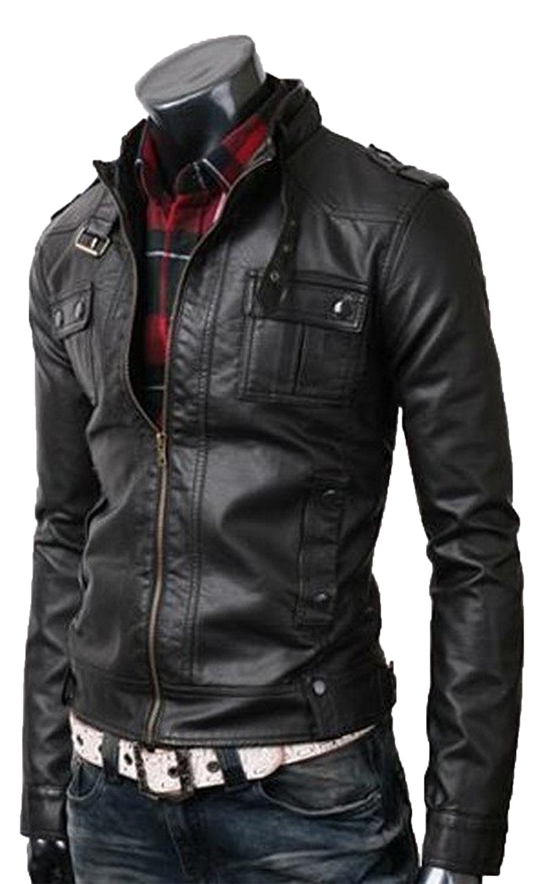mens stylish brown real leather safari coat/jacket | Trendy Leather