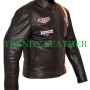 steve mcqueen le-man grand prix brown leather jacket