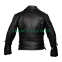 "vintage brando ""terminator"" black distress leather jacket"