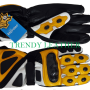 yellow/black real leather bikers racing gloves