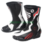 black stylish bikers real leather racing shoes