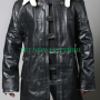 the dark knight rises bane black cow-hide real leather jacket coat tom hardy