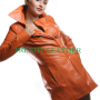 womens brown fashionable real leather coat/jacket.