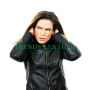 Young women's Black stylish fashionable bikers real leather jacket