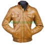 Vintage classic Men's fashionable real leather jacket