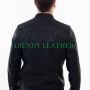 Young mens black stylish fashionable real leather bikers jacket