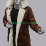 bane batman brown faux leather coat
