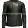 Tony Stark Iron Man Black Real Leather Jacket