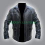 fight club tyler durden (brad pitt) black real leather jacket