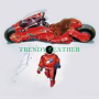 akira kaneda biker red real leather jacket with embrodery