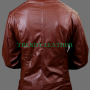 superman man of steel & smallville sheep skin 100% real leather shield jacket