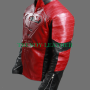 superman man of steel and smallville combination black and red real leather jacket