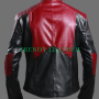 superman man of steel combination faux leather jacket