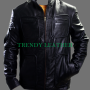 star trek james t. kirk black real leather jacket