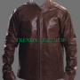 tom cruise jack reacher brown real leather jacket