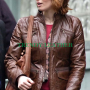 88 minutes kim cummings (alicia witt) brown leather jacket