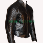 batman begins street racer black real leather jacket
