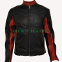 dark knight christian bale batman black real leather jacket