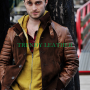 horns daniel radcliffe ig perrish brown 100% real leather jacket
