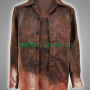 supernatural dean winchester brown distressed leather coat jacket