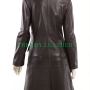 womens stylish brown antique real leather long coat