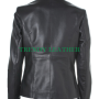 women's stylish black real cow-hide leather jacket
