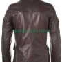 men's new stylish black 2 button real leather blazer