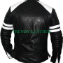fight club fc tyler durden brad pitt black faux leather jacket