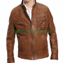 looper bruce (joe) willis brown real leather jacket
