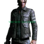 resident evil 6 leon kennedy black real leather jacket