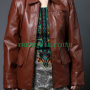 the hunger games brown (katniss everdeen) faux leather jacket