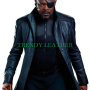 the avengers nick fury black real leather long coat jacket