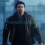 tom cruise war of the world black real leather jacket
