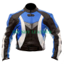 new style blue motorcycle bikers racing real leather jacket