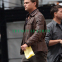 inception leonardo dicaprio brown real leather jacket