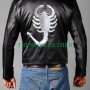 ryan gosling drive scorpion black men's bikers jacket