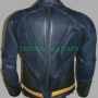 superman special man of steel cow leather shield jacket