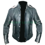 daft punk studded motorcycle biker real leather jacket