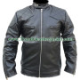 david beckham replica black real leather jacket