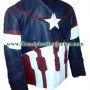 Captain America 2015 The Avengers: Age of Ultron Leather Jacket