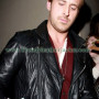 ryan gosling black bikers real leather jacket