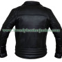 Classic Diamond Motorcycle Biker Vintage Leather Jacket