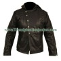 Mortal Instruments Jace Wayland Black Leather Hoodie