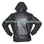 Chris Brown Bomber Black Leather Jacket hoodie