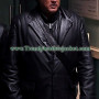 Against The Dark Steven Seagal Long Real Leather Coat