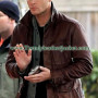 Dean winchester season 7 brown leather jacket