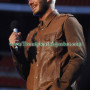 David Beckham Getty Style Vintage Brown Leather Jacket