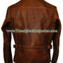 Captain America The First Avengers Distressed Brown Leather Jacket